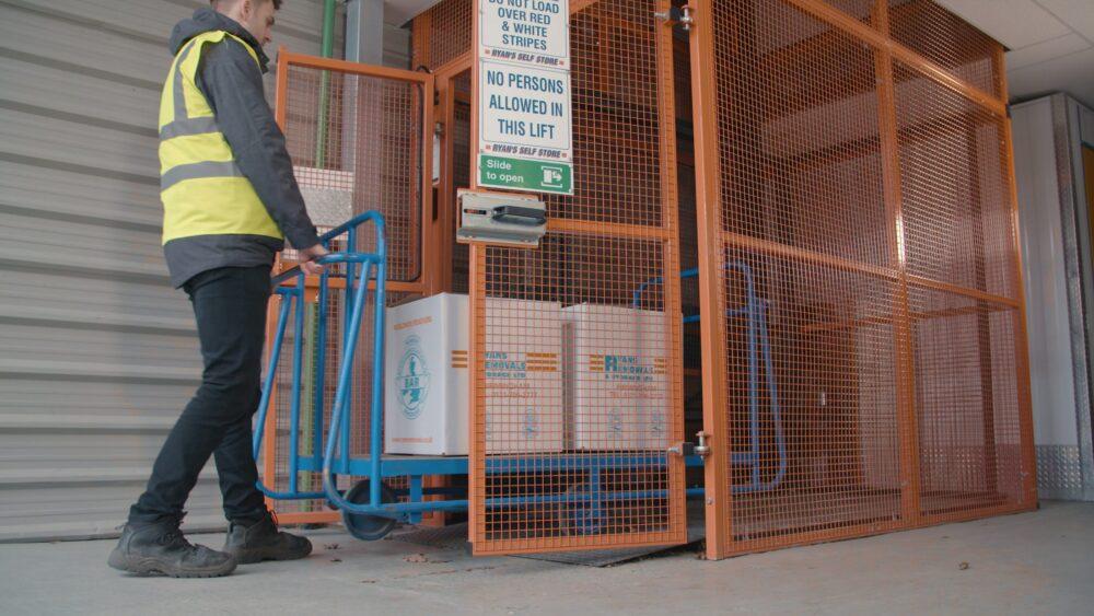 Ryans Removal – Mezzlift – Solution- Loading Lift