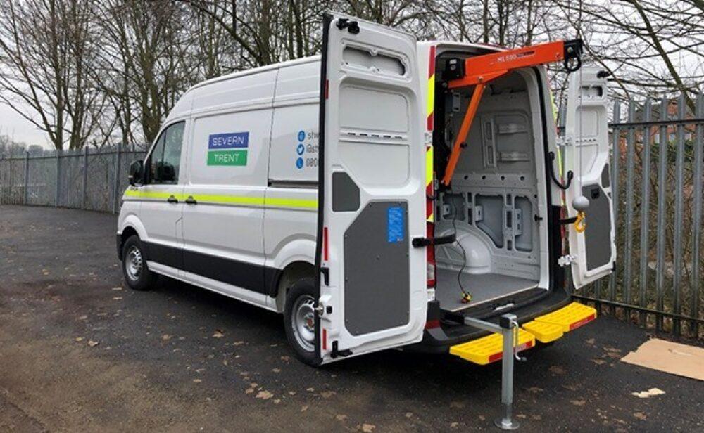 Severn Trent Swinglift Crane – Solution – Open Van