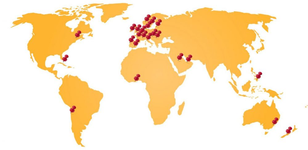 International Exporters Map